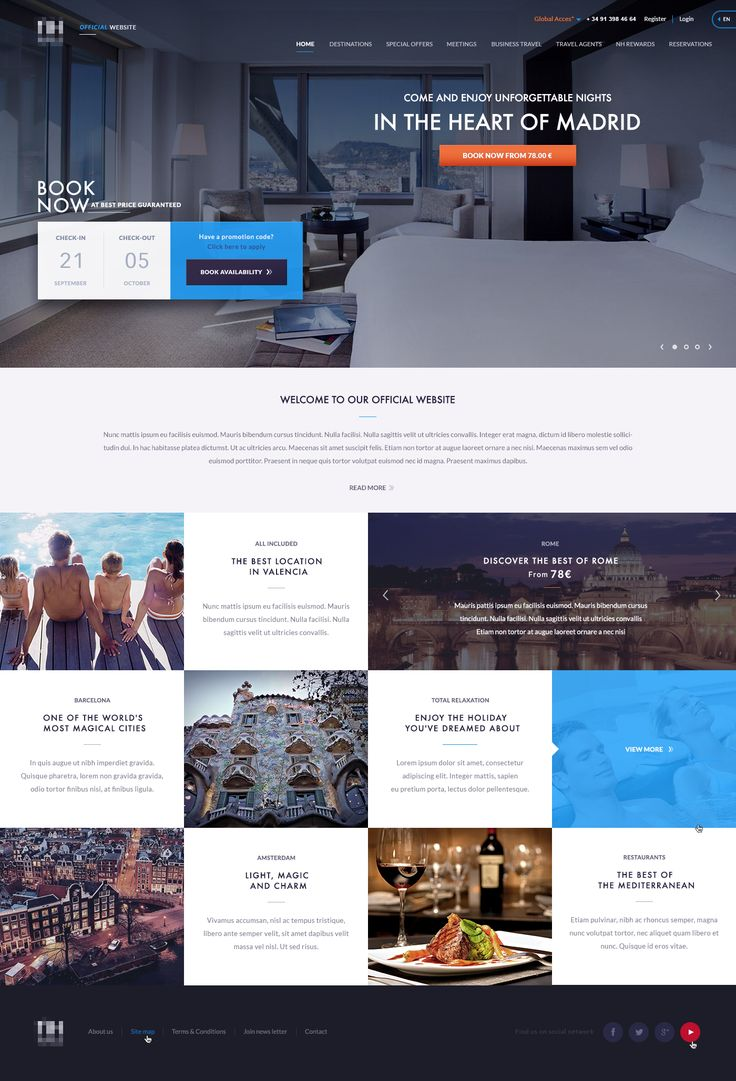 NH Hotels Homepage