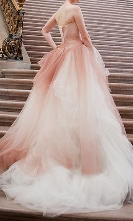 White by vera wang ombr ballet ball gown vera wang for Vera wang princess ball gown wedding dress