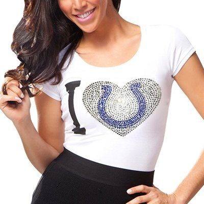 Indianapolis Colts Ladies Touchback Slim Fit T-Shirt - White