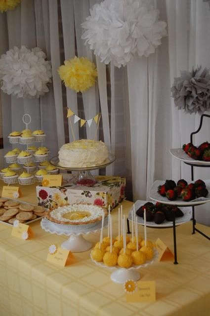 Baby Shower Gifts Hull ~ Yellow grey bridal wedding shower party ideas deserts