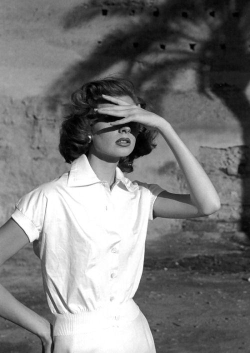 Suzy Parker, vintage models, 1950s, George Dambier, photographers