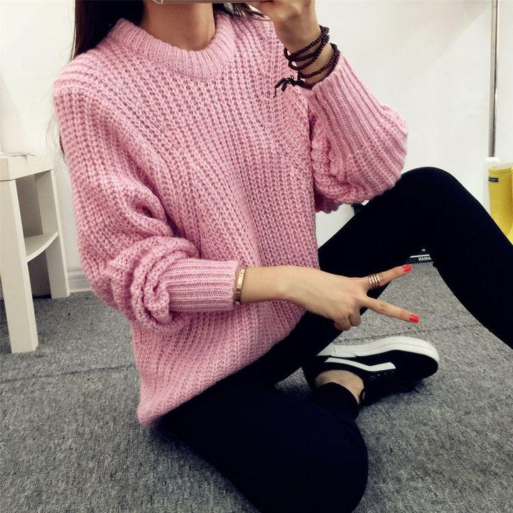 Купить товарРождественский свитер 2015 осень зима корейский стиль пэчворк трикотажные женские свитера и пуловеры в категории Пуловерына AliExpress. 2015 Hot Women Sweater Warm Autumn and Winter Style Casual Solid Full SleeveUSD 16.29/pieceWomen Cashmere Sweater Women