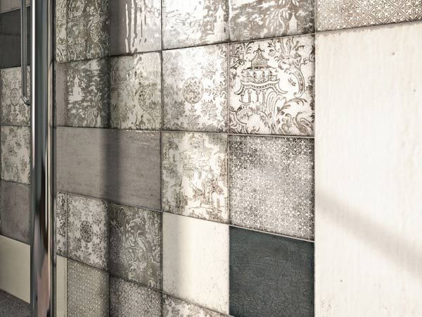 8 best diamond 48 x 48mm mosaics images on pinterest glass ceramic subway tiles and - Piastrelle a mosaico per cucina ...