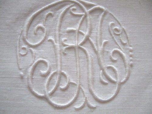 Vintage Linen Monogrammed Sheet