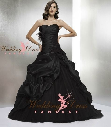Wedding Dress Fantasy - Black Wedding Gown Available in Every Color, $795.00 (http://www.weddingdressfantasy.com/black-wedding-gown-available-in-every-color/)