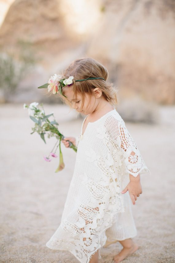 desert boho flowergirl | rad and in love photography