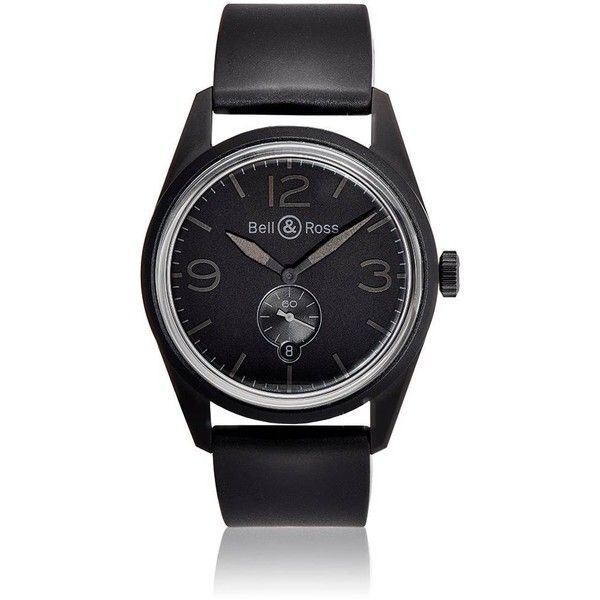 Bell & Ross Men's BR123 Original Phantom Watch (10.235 BRL) ❤ liked on Polyvore featuring men's fashion, men's jewelry, men's watches, black, mens black face watches, mens water resistant watches, mens watches, stainless steel mens watches and mens watches jewelry