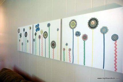 Scrapbook Paper Wall Art - fun DIY project!