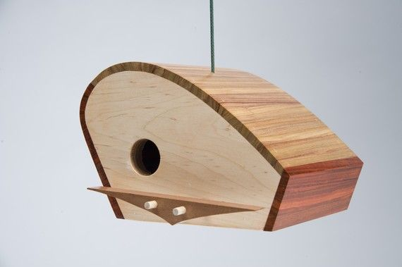 """Wave"" a mid-century modern birdhouse by KoolBIrd on Etsy, $120.00"
