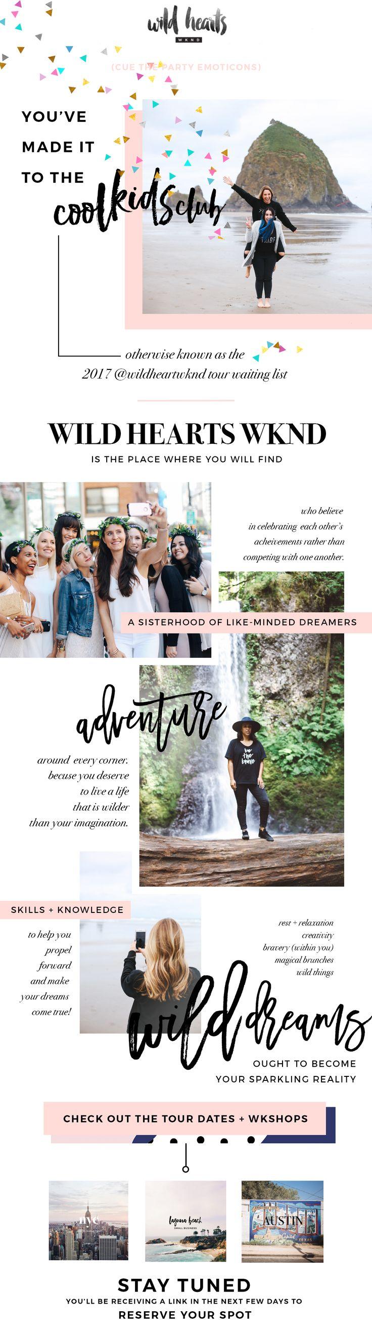 Newsletter Design by Lindsey Eryn Clark of Third Story Apartment.  Client: @wildheartswknd  #NewsletterDesign #GraphicDesign