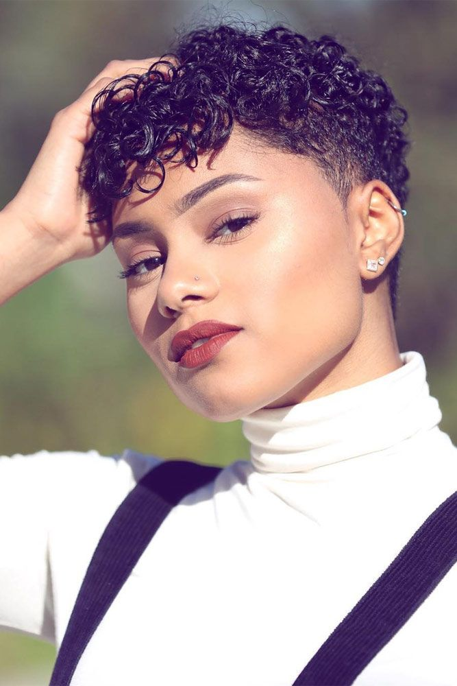 Short and Sassy Natural Hairstyles for Afro-American Women ★ See more: http://glaminati.com/short-and-sassy-natural-hairstyles/