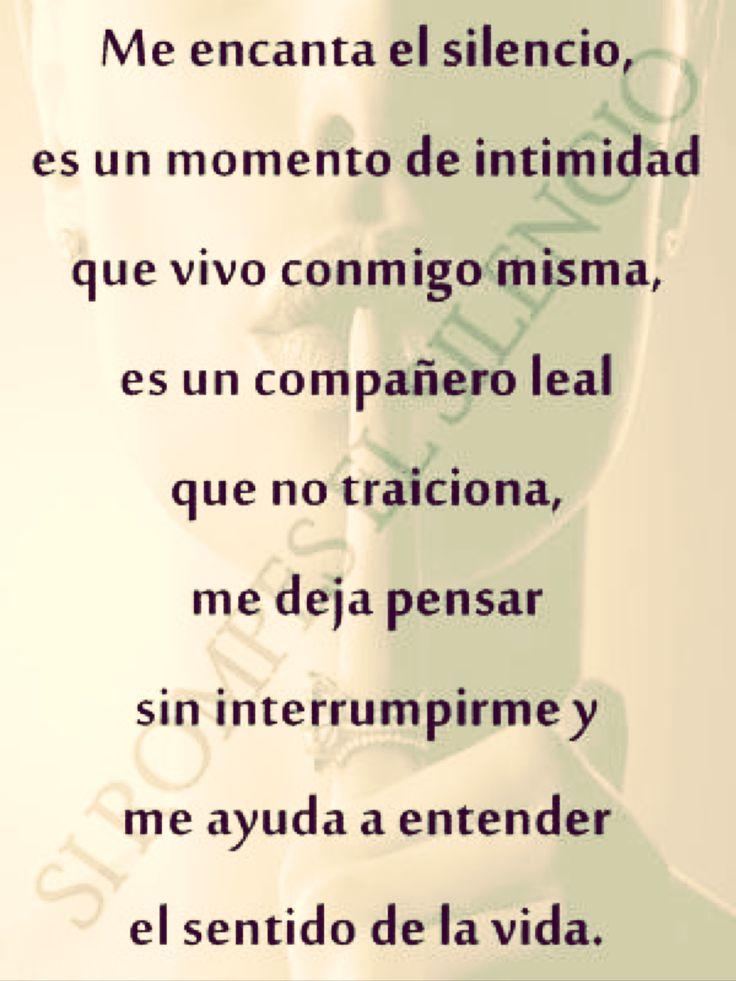 〽️ Me encanta el silencio...