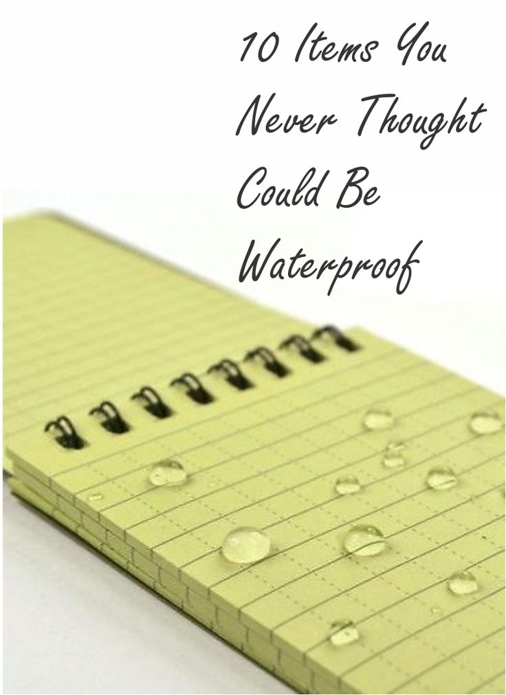 Splash! One of your favorite possessions just slipped into the pool, or worse – the lake! Don't panic! You can find a surprising variety of waterproof replacements for beloved items like smartphones, digital cameras, and laptops. Ever heard of the JASE notebook? Its waterproof pages protect your journal entries from the beach waves or pool splashes. Check out eBay's full list of ten items you never thought could be waterproof.