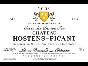 Sainte-Foy-Bordeaux Château Hostens-Picant Cuvée des Demoiselles 2009