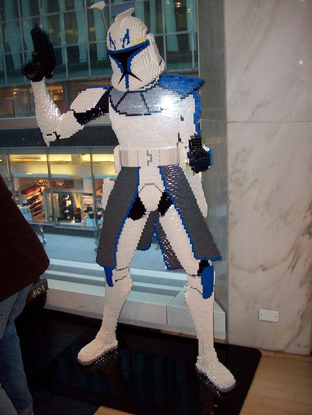 Clonetrooper in Lego sculpture