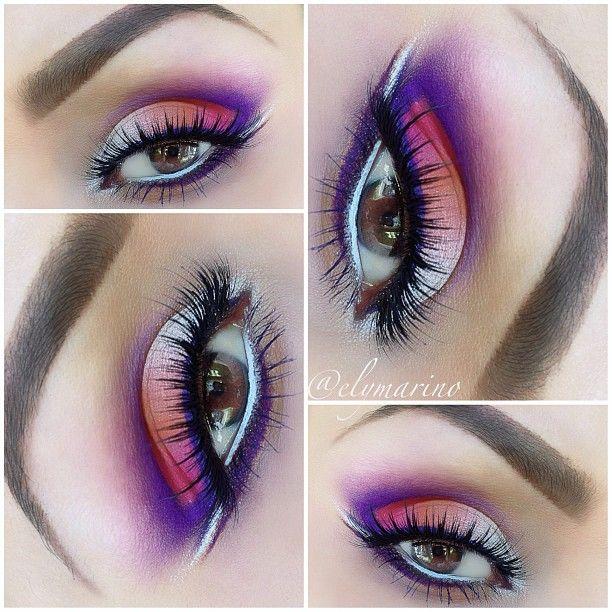 Purple hurricane eye shadow