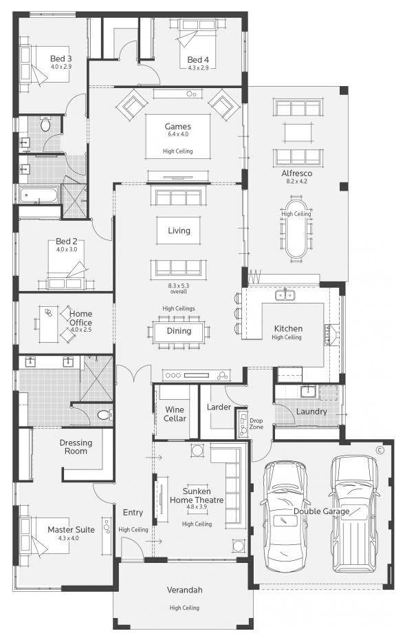 Archipelago I Display Home - Lifestyle Floor Plan Move the master away from the entry