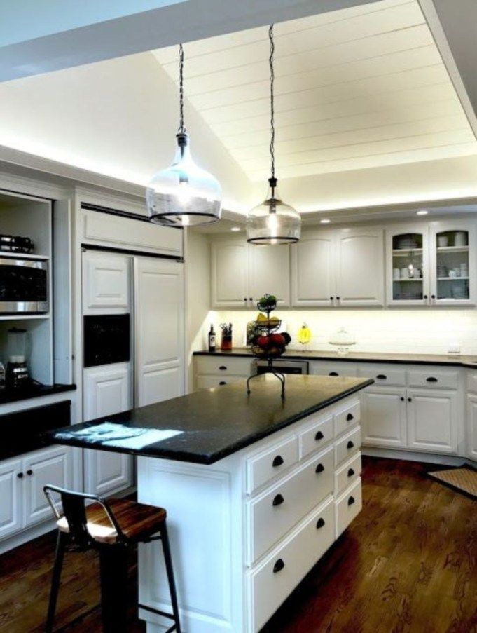 51 Stylish And Elegant Black And White Kitchen Ideas Kitchen