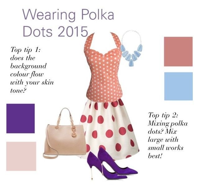 mixing polka dots! by lornamailtd on Polyvore featuring Nicholas Kirkwood, MICHAEL Michael Kors and Kendra Scott