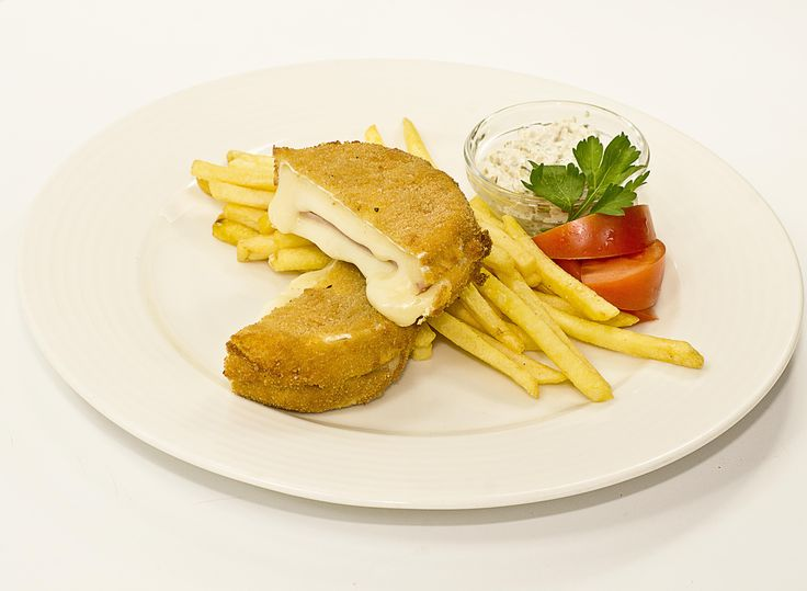 Fried Camembert with French Fries, Czech cuisine, May