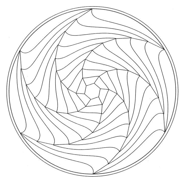 coloring-page-mandala-optical-illusion, From the gallery : Mandalas