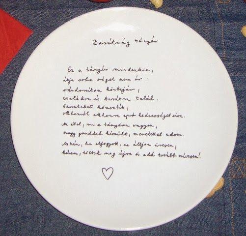 Barátság tányér | A napfény illata