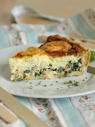 Tarte à l'épinard, saumon et chèvre : la recette facile