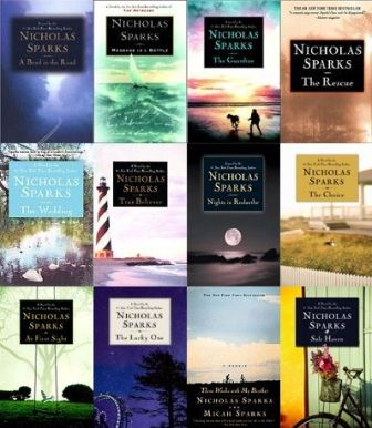 list of all the books nicholas sparks has written