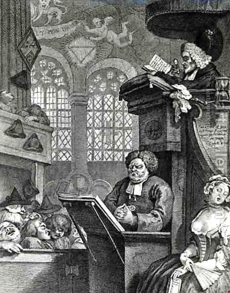 William Hogarth:The Sleeping Congregation