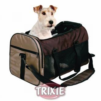 Bolso para perros TRIXIE Samira nylon Marron/Beige: Producto de Transporte y viaje con perros. Indicado para: Perros de todas las razas según tamaños y medidas