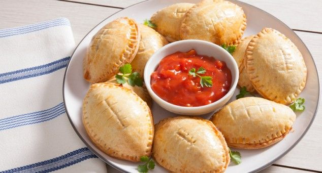 These Cornish Pasties are great for when you're kicking back watching TV with friends.  #entertaining #snack #recipe