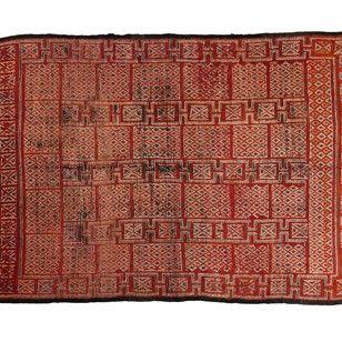 Mid 20th Century Rabat Pile Rug, Western Morocco - Decorative Collective
