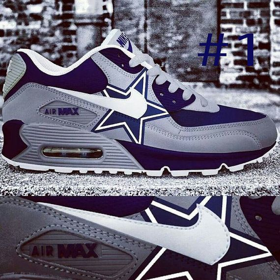 Custom Dallas Cowboys AirMaxx by ElevatedApparelPlus on Etsy Taking Orders