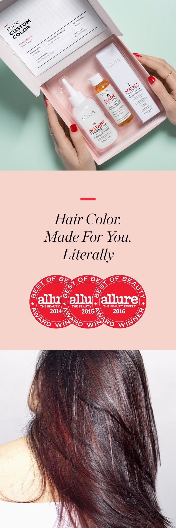 Award-winning color, formulated-to-order. Longtime client Sybil H. says, �I immediately knew I found something that works�works for me, works for my hair, works for my lifestyle.�