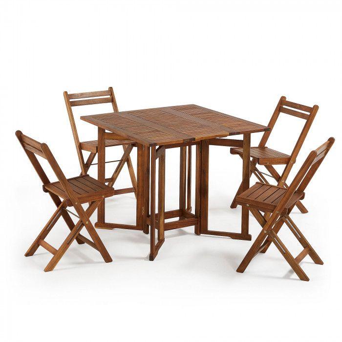 Tavolo Legno Esterno Pieghevole.Il Tavolo E Le Sedie Di Questo Set Sono Pieghevoli E Fatte Con