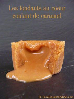 fondants caramel coeur coulants nutella