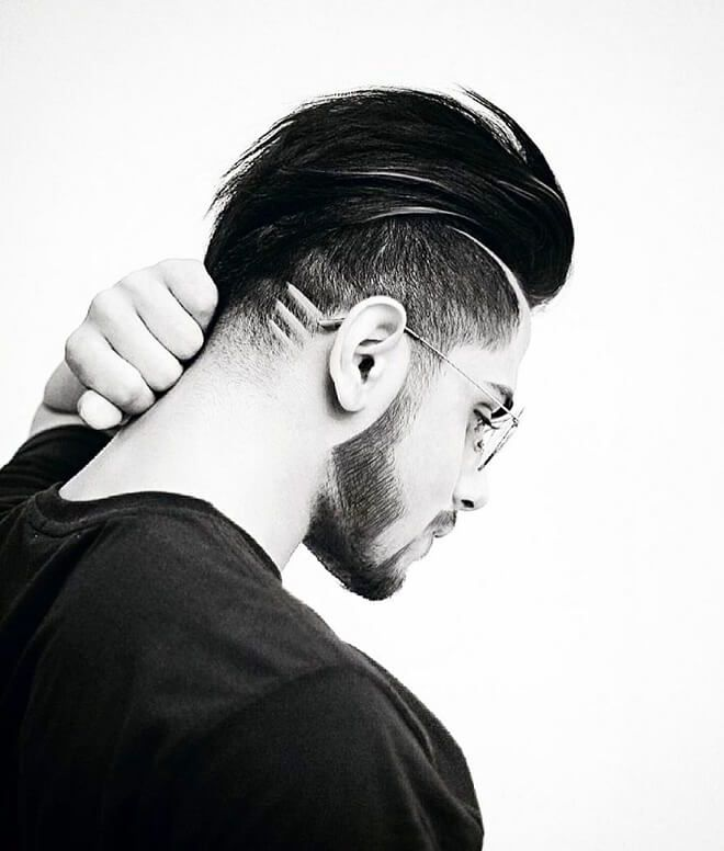 slicked back with shaved sides hairstyle  side hairstyles
