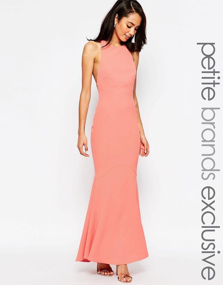 Jarlo Petite Carmelita Maxi Dress with Plunge Back · Orange Bridesmaid  DressesCoral ...