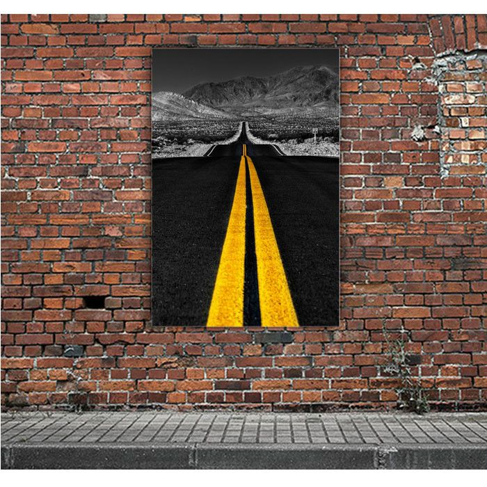 ROAD YELLOW LINES ARTWORK POSTERS