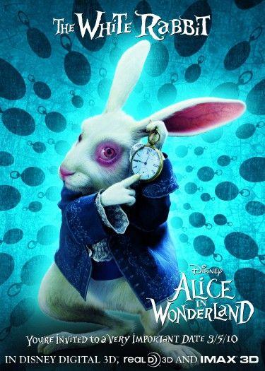 The White Rabbit [Alice in Wonderland 2010 Movie Poster]