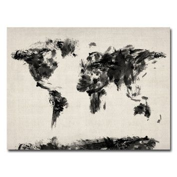 11 best map images on pinterest world maps board and world map canvas abstract map of the world by michael tompsett graphic art on wrapped canvas gumiabroncs Choice Image