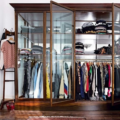 See-through wardrobes are scary(need to keep things neat and tidy all the time) but somehow I wish to own one of this.