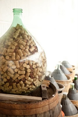 fill a bottle with corks...been there, have the filled demijohn