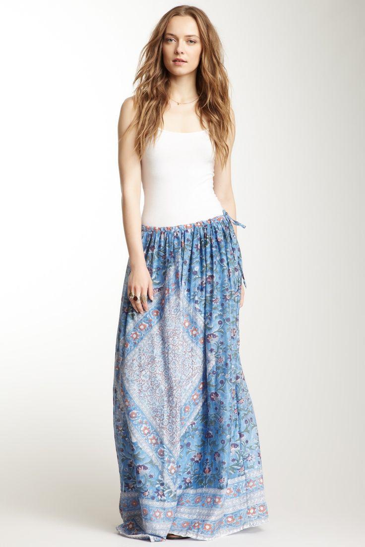 Antik Batik Cotton Blend Nookta Maxi Skirt