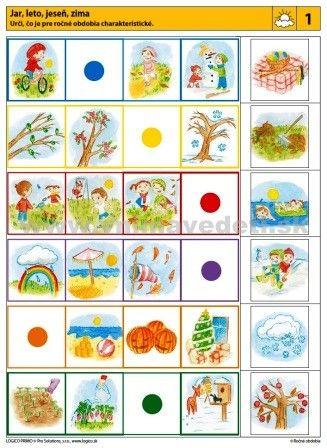 Logico Primo Ročné obdobia - autokorektívne karty