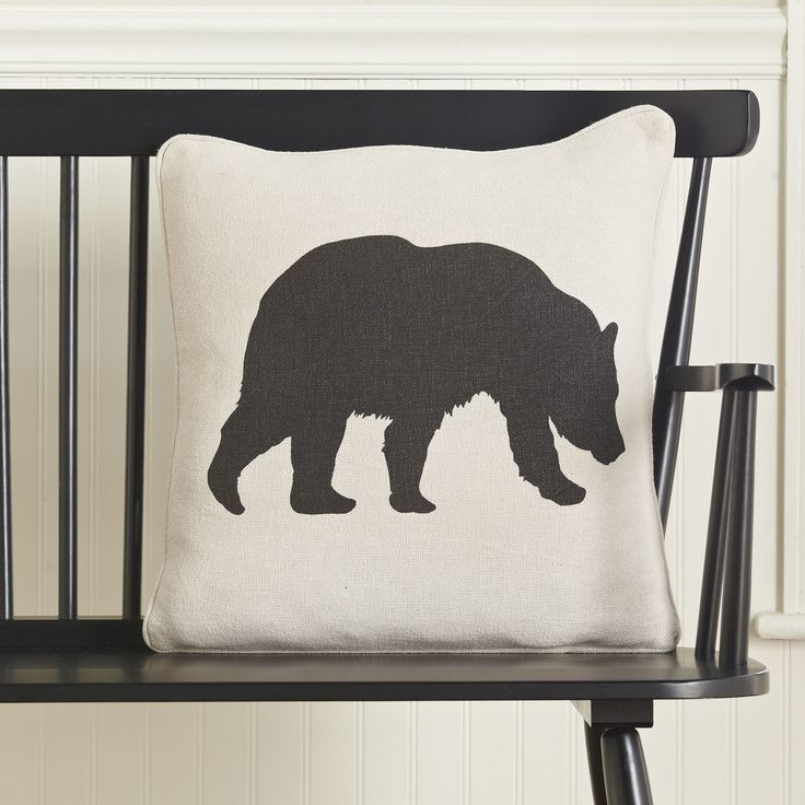 Bear Silhouette Pillow Cover