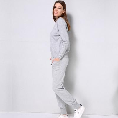 Women Sweater Suit and sets Casual Knitted Sweaters Pants 2PCS Tracksuit
