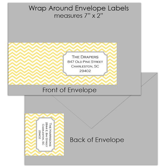 wrap around chevron labels for save the dates