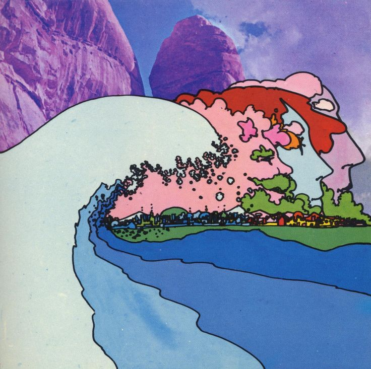 Thought by Peter Max I like the retro look with the muted tones overlaying the photograph