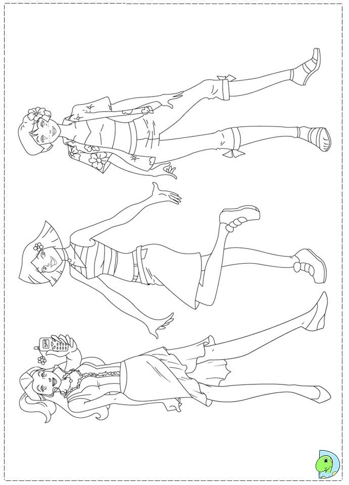Totally Spies Coloring page DinoKids
